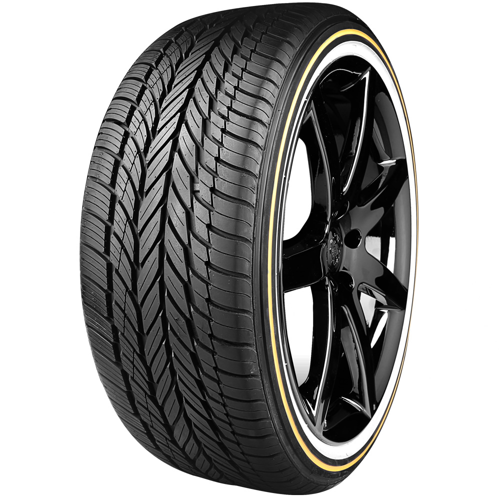 Vogue White and Gold Tires | Free Shipping